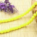 Beads, Glass, Yellow , Round shape, Diameter 8mm, 10 Beads, [BHB0165]